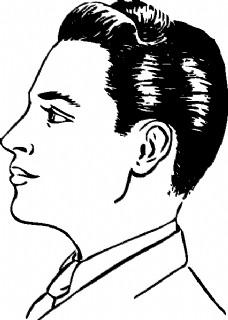 男生头发的简笔画