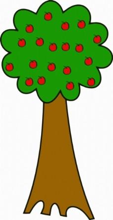 剪贴画树的果实图片