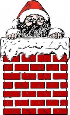 矢量线条圣诞老人