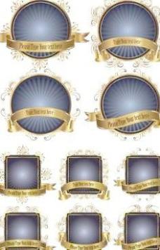 金边10标签销售模式向量
