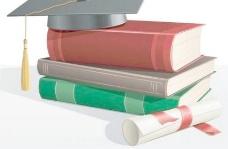 特征向量的书籍和博士帽