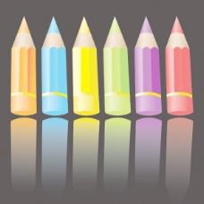 彩色铅笔矢量