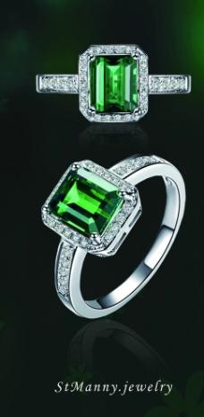 珠宝祖母绿戒指图片