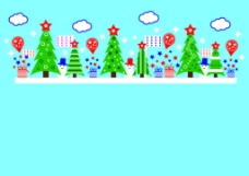 一排圣诞节