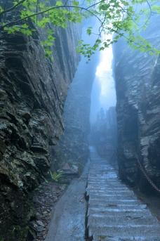 雾中梵净山图片