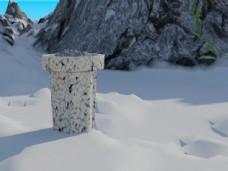 雪地里的垃圾桶