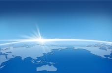 蓝色闪光星球 地球鸟瞰图