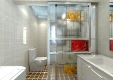 卫生间效果图 带贴图图片