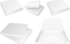 空白包装纸盒矢量素材
