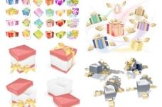 节日礼品包装矢量素材