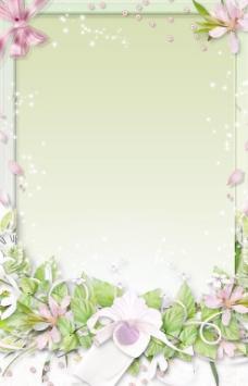 精美植物花叶相框PSD分层模