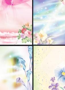 绚丽鲜花背景设计PSD图片素