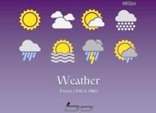 天气预报图标设计PSD图片素