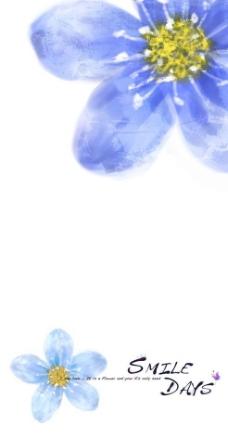 特写水彩花卉背景PSD分层素