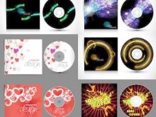 欧美潮流VCD碟片包装设计矢量