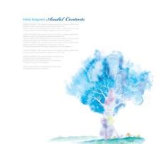 抽象树木纹理背景PSD分层素