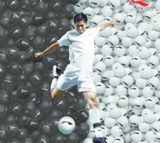 李宁体育装备品牌形象海报PS
