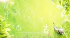 绿色春天音乐华章桌面PSD素