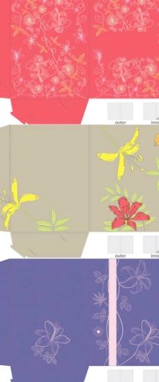 包装礼盒平面图矢量素材