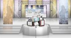 潮流展厅展台背景设计PSD分
