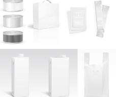 纸盒铝箔包装矢量素材