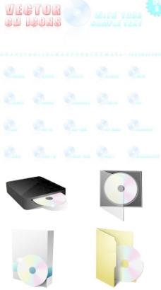 光碟CD包装设计矢量素材