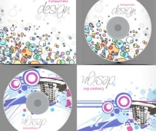 光碟封面包装设计矢量素材