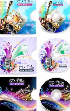 超炫CD包装矢量素材