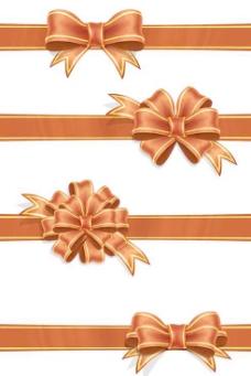 装饰丝带蝴蝶结设计PSD素材
