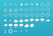 天气预报小图标PSD分层素材