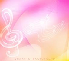 水晶音乐元素背景PSD分层素