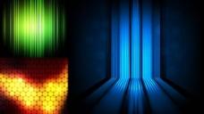 炫彩渐变光效背景矢量图  AI