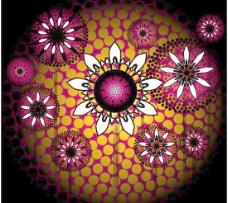 抽象葵花背景矢量图