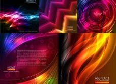 动感线条炫彩光效背景矢量素材