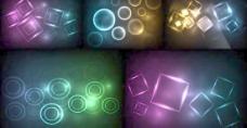 幻彩菱形圆形光效背景矢量素材