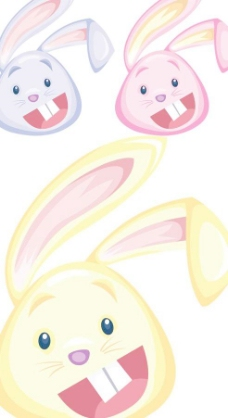 卡通可爱兔子头像设计矢量素材