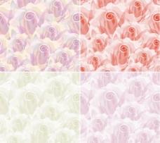 朦胧玫瑰花背景矢量素材