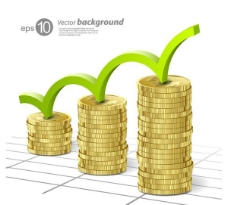 金融金币背景矢量素材