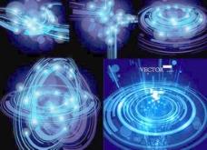 动感深蓝科技空间背景矢量素材