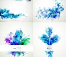幻彩植物花纹背景矢量素材