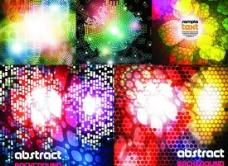 色彩斑斓炫光背景矢量素材