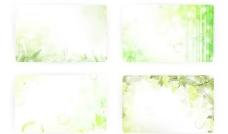 竹林竹叶绿色植物背景矢量素材