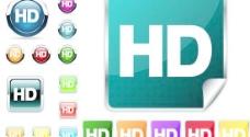 精致水晶HD图标矢量素材