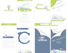 网络信息文本封面设计矢量图