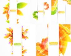艺术花卉绚彩背景矢量素材