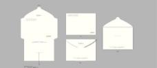 空白信封封套矢量图  AI
