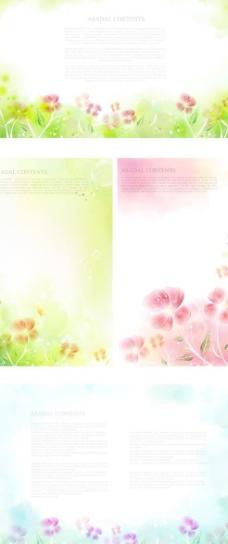 淡雅花卉版式海报矢量素材