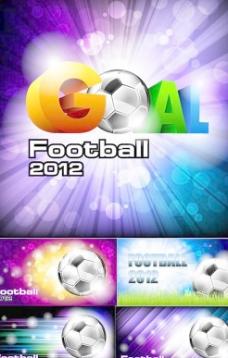 2012欧洲足球锦标赛海报矢量素