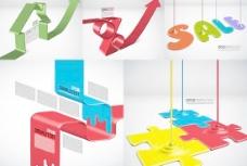 创意造型彩色油漆海报矢量素材