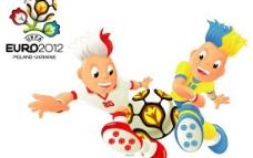 2012欧洲杯足球赛宣传海报矢量